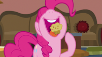 Pinkie Pie eating a mini muffin S7E18