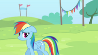 Rainbow looks behind her S4E10