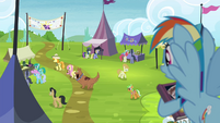 Rainbow sees Fluttershy leaving with collector S4E22