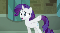 Rarity -would've laughed at her new hat- S5E16