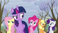 S05E05 Przyjaciółki zdziwione zachowaniem Rainbow