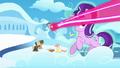 Starlight avoids magic beam; Rainbow gets hit by magic beam S5E26.png