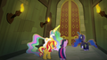 Sunset and princesses at the restricted section entrance EGFF.png