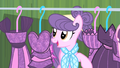 Suri looking at Rarity's collection S4E08.png