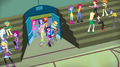 The Rainbooms enter the gymnasium EG2.png