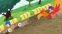 Apple Bloom and Scootaloo race in new carts S6E14