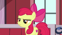 Apple Bloom looking annoyed at her friends S8E10