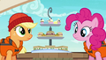 Applejack and Pinkie look at Rarity's snacks S6E22.png