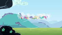 Breezie group flying over grassland S4E16