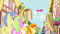 Crowd of ponies watching Pinkie Pie S4E12.png