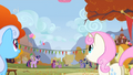 Every pony watches Pinkie Pie float away S1E13.png