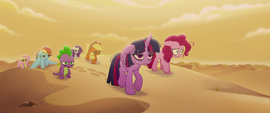 Mane Six and Spike crossing the desert MLPTM