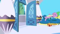 Opening door sends Spike flying S1E01