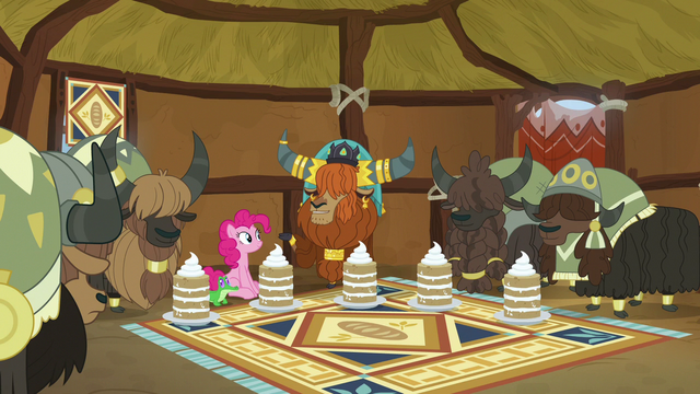File:Pinkie, Rutherford, and yaks in yak eating hut S7E11.png