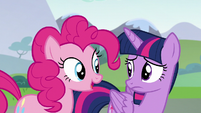 Pinkie Pie --he makes another good point-- S5E22