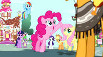 Pinkie Pie -what an amazing coincidence- S4E12