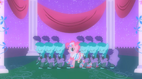 Pinkie Pie dancing with Sprinkle Medleys in her fantasy S1E26
