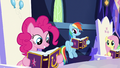 Pinkie Pie reading her Pinkie Pride entry S7E14.png