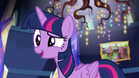 Princess Twilight greets Sunset's friends EGSB