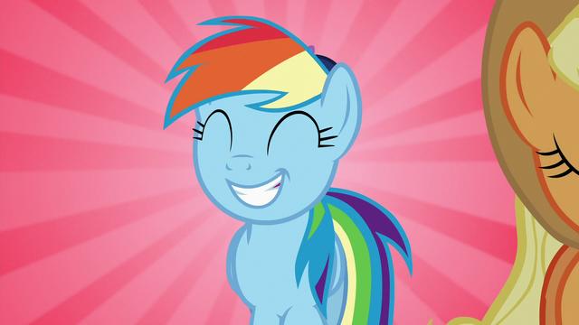 File:Rainbow Dash walking behind Applejack S7E2.png