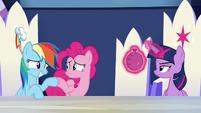 Rainbow and Pinkie Pie hoof-bump S6E15