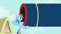 Rainbow looking into the cannon S4E12