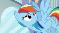 Rainbow remembering the Cloudsdale Derby S6E14