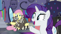 "Rarity ""why not try a new outfit?"" S8E4"