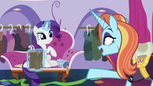 """File:Sassy Saddles """"now get out of here!"""" S7E6.png"""