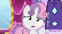 Sweetie Belle worried --how early--- S6E14
