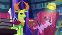 Twilight Sparkle trying to get comfortable S7E15