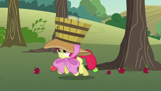 File:Apple Bloom trotting to catch more falling apples S7E9.png