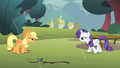 Applejack and Rarity retreating S1E08.png