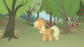 Applejack snoring while standing S1E04.png