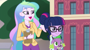 Celestia announces Twilight as CHS' newest student EG3