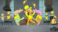 Cheese juggles with dancing factory mares S9E14
