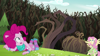 Claw-like vines looming over Pinkie Pie EG4