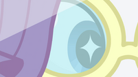 Close-up on Rarity's starry eyes EGSB