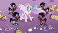 Crystal Ponies ambush Celestia from under the snow S5E25.png