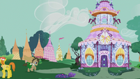 Dr. Hooves running to the Carousel Boutique S5E9