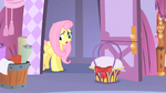 Fluttershy entering Rarity's house S1E17