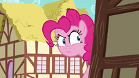 Pinkie Pie looks around a building corner S7E23