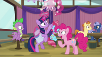 "Pinkie Pie suggests ""Team Pink-Light!"" S9E16"