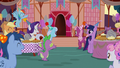 Ponies getting ready to greet Maud Pie S8E3.png