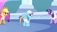 Rainbow Dash looks amazed S1E16
