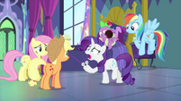 "Rarity ""how do I get it off?!"" MLPS2"