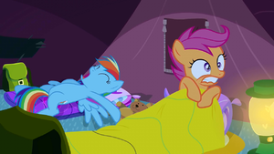Scootaloo having trouble sleeping S3E6