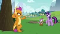 "Smolder ""teaching you to fly like a pony"" S8E24"