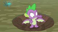 Spike remembering he has wings S8E11
