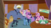 Twilight Sparkle tells Iron Will to wait S7E22